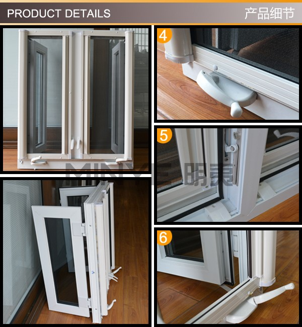Top china brand conch cheap pvc window with double glazing for Cheap double glazing