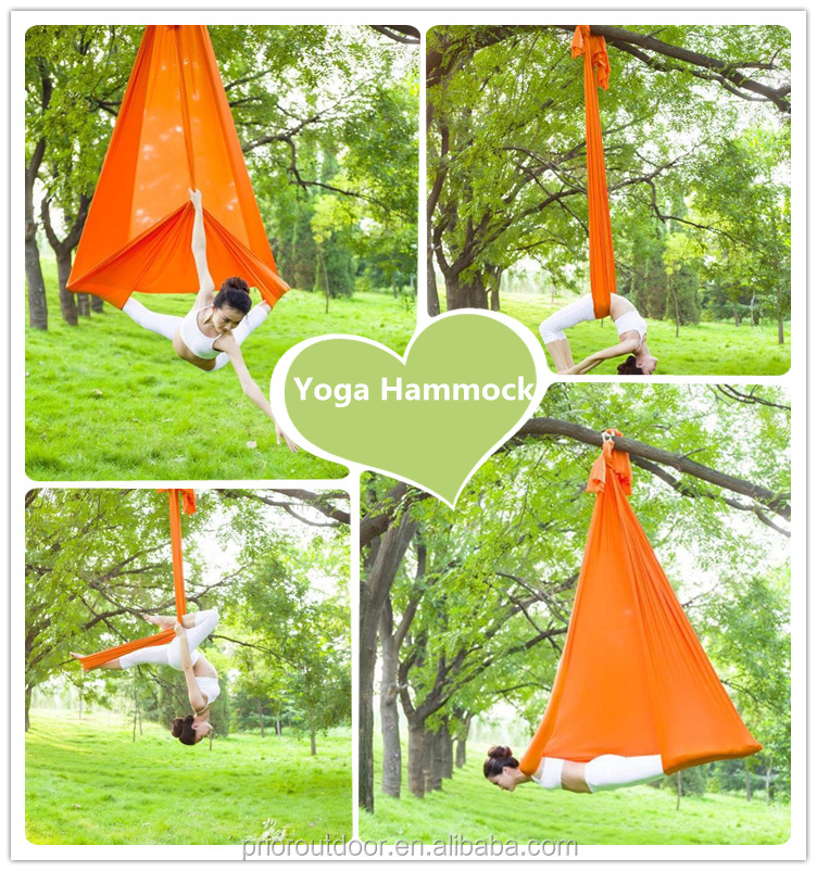 New High Quality Air Flying Yoga Hammock Silk For Aerial Hammock Belt Fitness Swing(See 18 Fabric Colours)