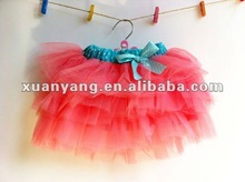 2015 High quality puffy tulle skirt young girls in skirts girls in short skirts