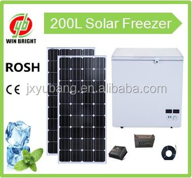 Chest deep freezer 200L Whosale Solar powered DC12V/AC220V Deep Freezer refrigerator fridge for home