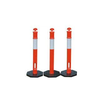 1100mm PVC Temporary Portable Reflective Flexible Delineator Bollard