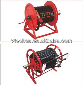 2015 hand crank hose reel with steady structure