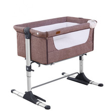European quality portable fashion baby crib baby bed bedside bed