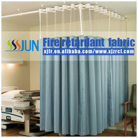 Antibacterial /Antimicrobial Fire retardant /flame retardant hospital curtain from Zhejiang factory