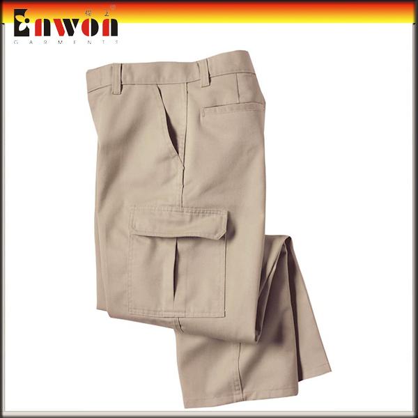 cotton khaki work long cargo pants