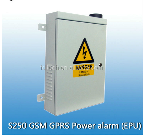 GSM GPRS Outdoor Alarm & Control System Power Facility Monitoring Center Distribution Grid s250