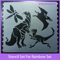 Novelty stencil set for rainbow art set,plastic stencil sets
