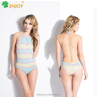Wholesale backless brand name lurex color changing sexy school hot korean teen girl bikini