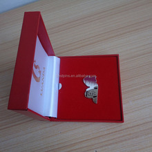 Qatar king and national flag badges with red leather box, top rated national day items