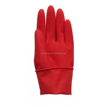 short colorful waterproof household latex gloves