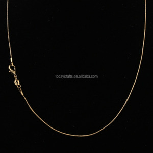 Antique Gold plated make brass snake chain manufacturer