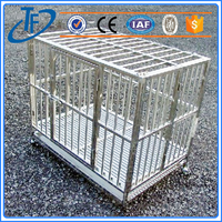 low price large steel aluminum dog cage and big double door aluminum dog cage