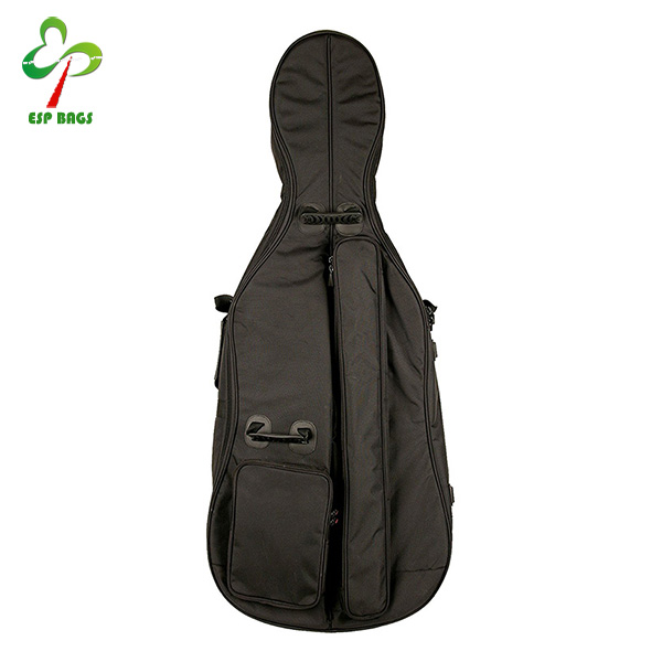 Alibaba online luxury water resistant 1680D nylon cello case 4/4 bags with zipper closure