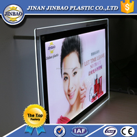 JINBAO Slim make up light box,advertising led magnetic make led light box