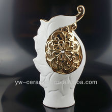 Ceramic Cheap Decorative Gold Plated Vase