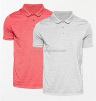 Man Good Quality Hort Short Sleeve Stripe Dry Fit Polo T Shirts With Printed Logos