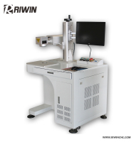 RIWIN desktop cnc laser marking machine plastic button laser fiber marker chinese supplier