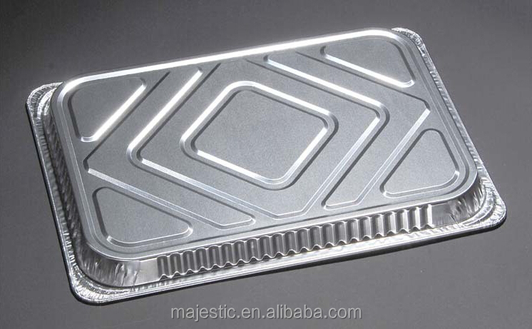 Food Packing Aluminum Tray Barbecue Rectangle Shape Foil Container
