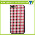 Full Wrap Edge checked pattern Case tpu cover for iPhone 7 plus