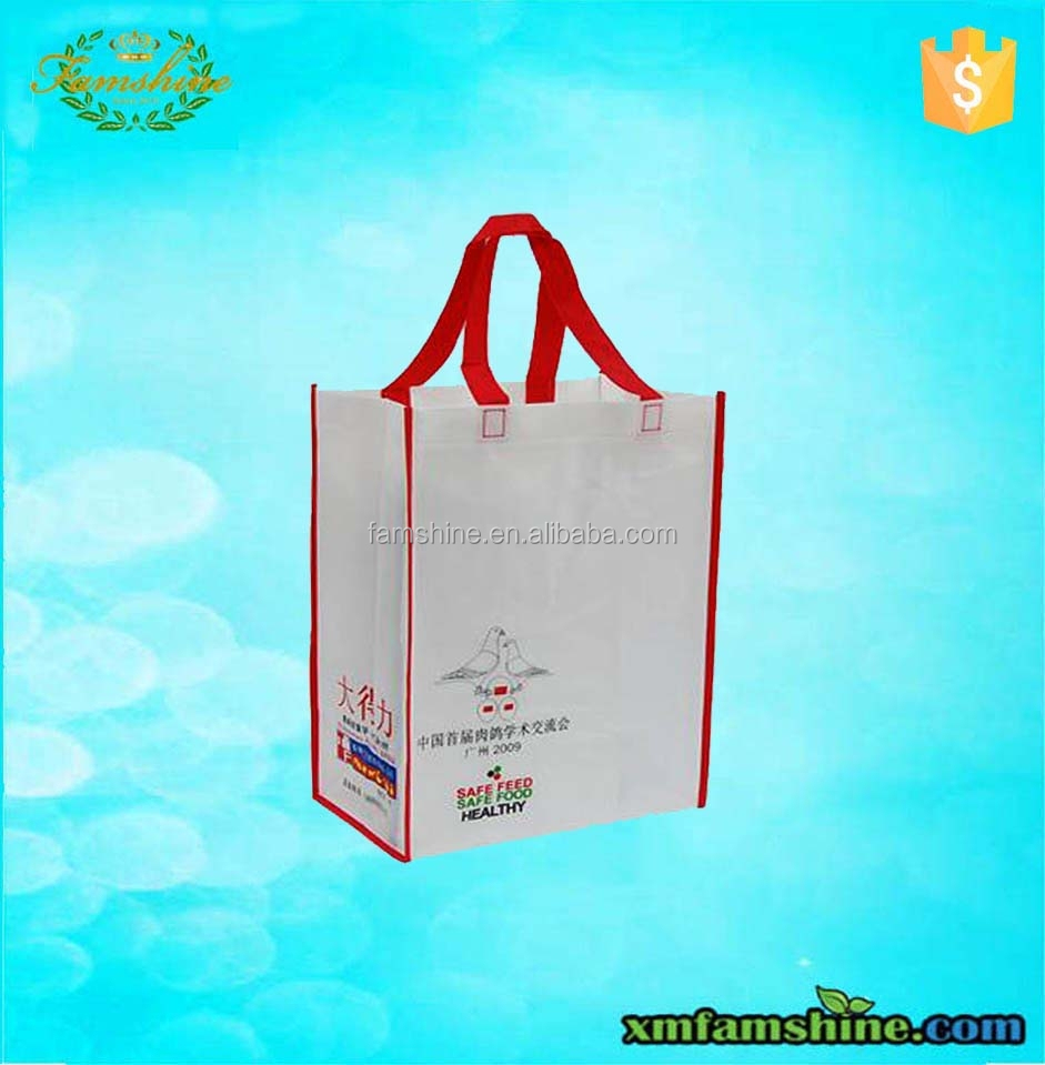 recycled pp nonwoven fabric bag for shopping