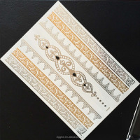 hot sale gold tattoos,metallic temporary tattoos,fashion flash tattoo jewelry tatoo sticker sex woman