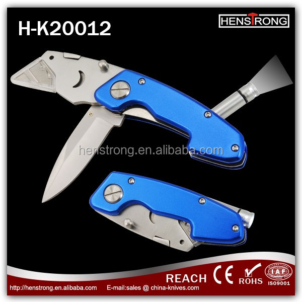New Design LED Flashlight Papper Cutter Folding knife Pocket Knife Camping Knife