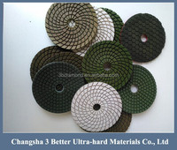 Wet&dry use diamond hand polishing pads for granite/glass/tiles/porcelains