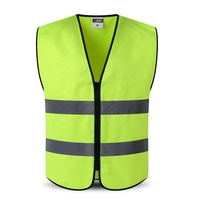 Outdoor Night Riding Running Hi-Vis Yellow Safety Vest Reflective Jacket
