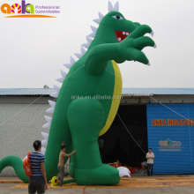 Customized green inflatable dragon For Promotion