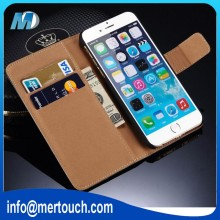 Hot Sale alibaba for iphone 6 retro leather case bookstyle flip cover with 2 card holder wallet phone case