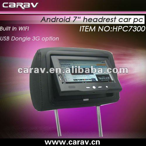 For taxi and bus 7 inch tablet PC with USB 3G DONGLE