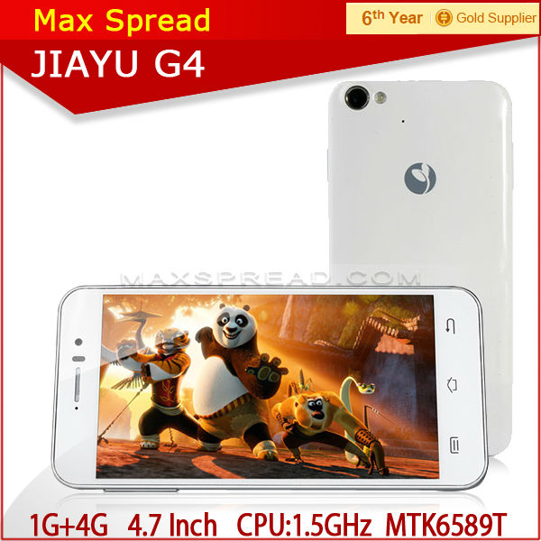 JIAYU G4 1G/4G 3000mAh MTK6589T smartphone Quad Core Android mobile cell phone
