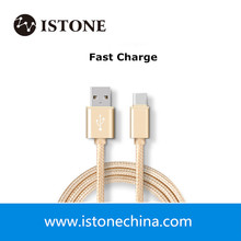 Superspeed fast charging data transferring braided nylon sleeve usb type c 3.0 cable