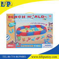 Summer time sandy and beach castle toy with color box
