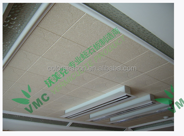High quality vermiculite ceiling tiles, firep resistance & heat insulating tiles