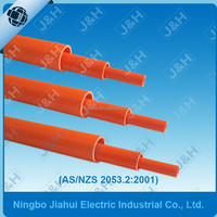 china supplier AS/NZS2053 orange PVC cable pipe 20mm, Australian standard HD heavy duty cable conduit 20mm diameter
