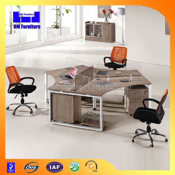 120 degree office cubicles for 3 person