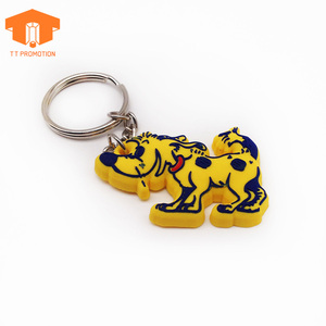 Custom rubber pvc dog owl keychain