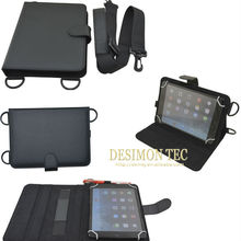 PU leather hand held universal 7inch tablet case cover with shoulder strap LOGO custom shenzhen
