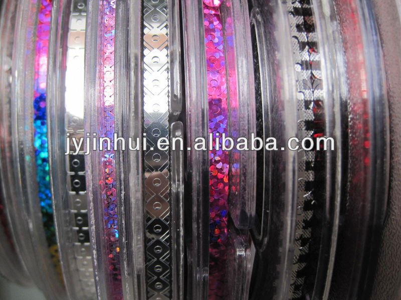 High quality embroidery spangle PET Sequins reel roll