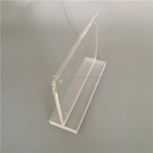 "THICK Acrylic Sign Holders 5"" x 7"" / Clear Plastic Card Displays / Menu Holders / Table Tents / Photo Frames 5x7"