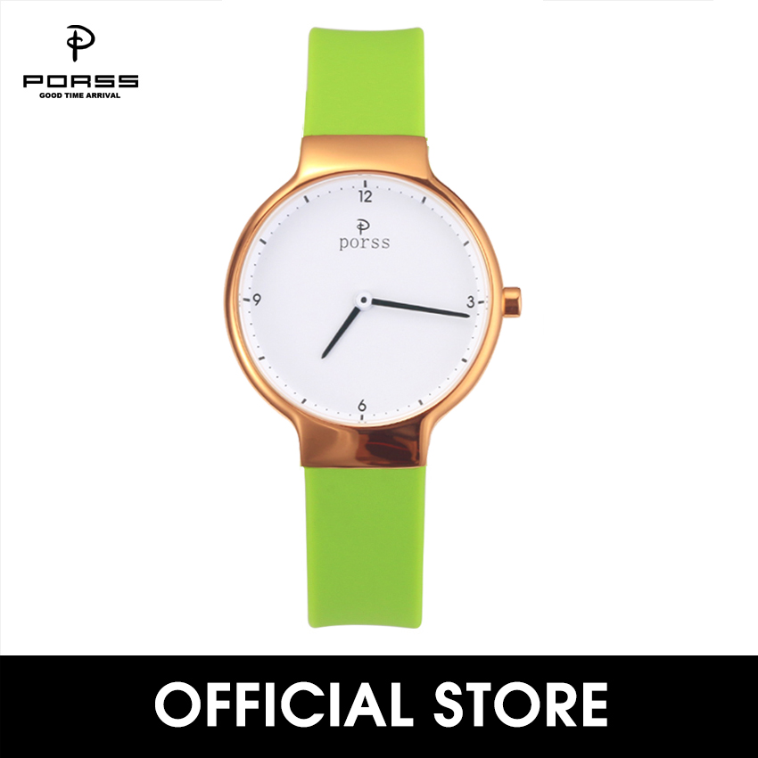 Classic Petite Lady's Collection 32mm rose gold color Watch with interchangeable Green Silicone Band and sapphire glass