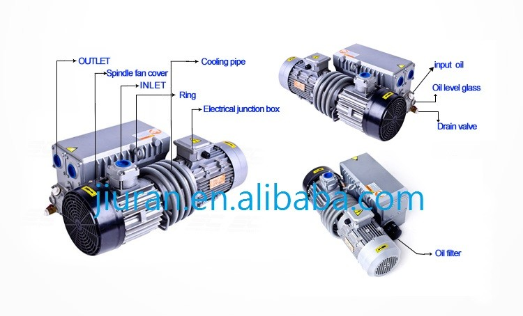 160m3/h 4kw Single Stage Rotary Vane Vacuum Pump