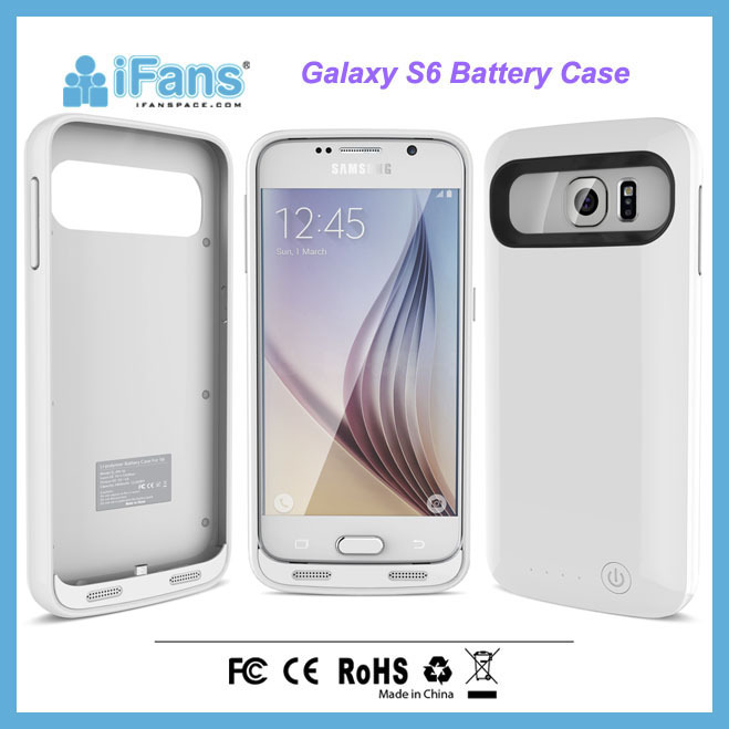 New Arrival Battery Case Charger for Samsung Galaxy S6 for Free Logo Printing