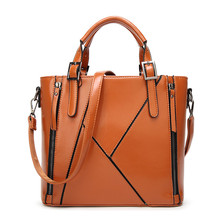 2017 newest design fashion splicing ladies tote big bag single-shoulder crocodile handbag