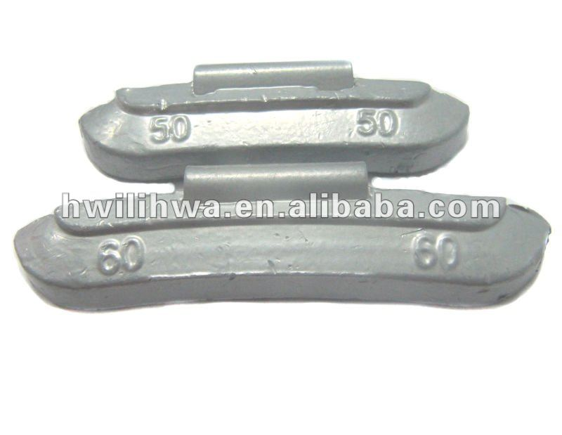 Lead Pb clip on coated wheel balance weight for steel rim