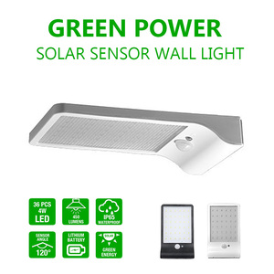 4W IP65 Outdoor Flat Solar LED Fence Light for Garden, Garage, Roof, Path