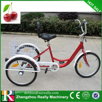 "6-Speed 24"" 3 Wheel Adult Bicycle Tricycle Trike W/ Basket"