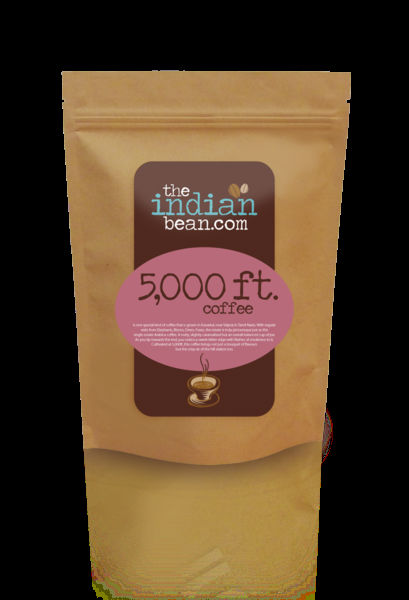 5000 ft. Single Estate 100% Arabica Coffee from India