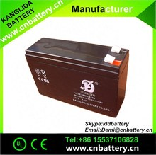 maintenance free deep cycle battery 12v7ah for agricultural electric sprayer and flashing lights
